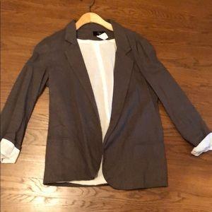 Aqua gray green linen blazer